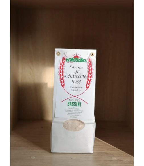 Farina di lenticchie macinate a pietra -500 gr