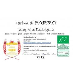 """Farina di Farro """"Spelta"""" Integrale BIO - 25 kg"""